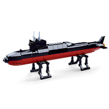 Navy Battle Ship Aircrafted Carrier ruiser Military Submarine Naval Destroyer Warship Model Building Block Legoingl Toys For Kid