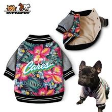 SUPREPET Pet Dog Clothes Autumn Winter Coat Jacket Bulldog Cotton Costume  Padded Warm Ropa Perro