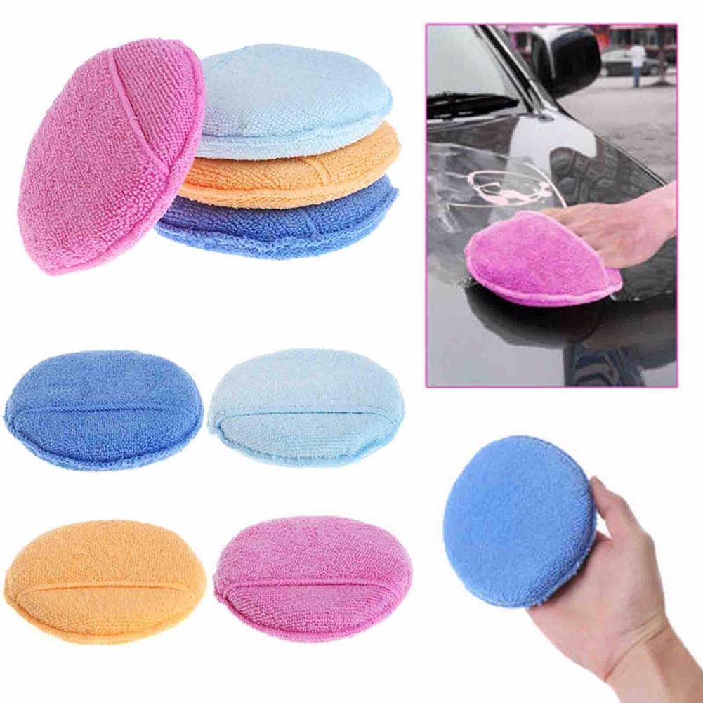 Car Sponge Washing Tools Care Soft Microfiber Car Wax Applicator Pads Polishing Sponges With Pocket Cleaning Glove уборка авто