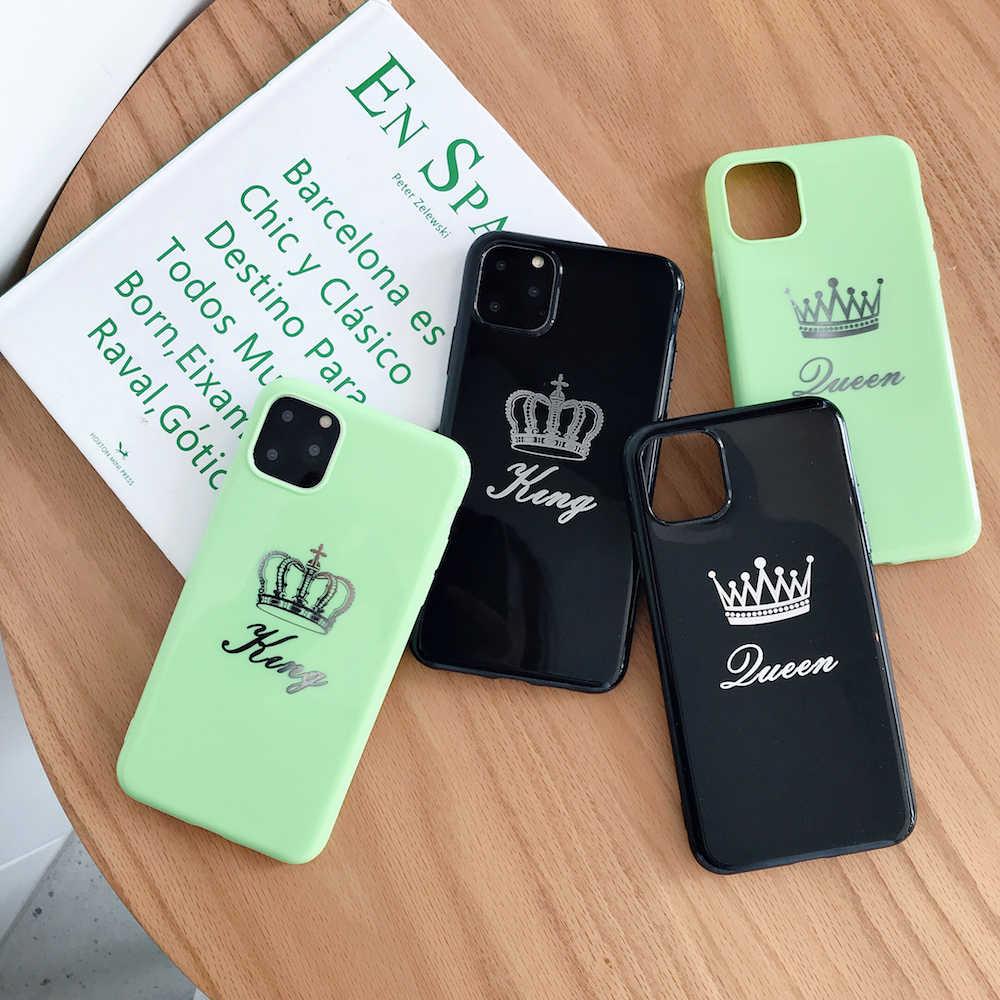 Новый мягкий чехол Candy GUEEN KING Crowns для iPhone X Xs XR XsMax 8Plus 8 7Plus 7 6 6s Plus 11Pro 11ProMax 11 чехол для телефона