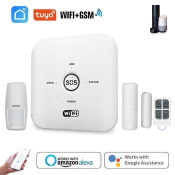 Tuya inteligentne WIFI zabezpieczenie GSM System alarmowy współpracuje z Alexa System alarmowy do domu PIR zdalny 240V sterowany System alarmowy tanie i dobre opinie centechia CN (pochodzenie) Czujnik do drzwi okna Plug PIR Remote Controlled 100-240V PSTN Tuya Smart WIFI GSM Home Security