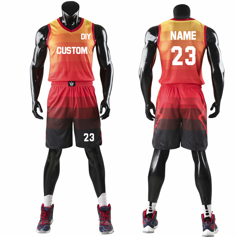 Top Quality <font><b>Men</b></font> Women Kids Basketball Jerseys Sets Uniforms Boys Sport Kit Clothing Shirts <font><b>Shorts</b></font> <font><b>Suits</b></font> Side Pockets Customized image
