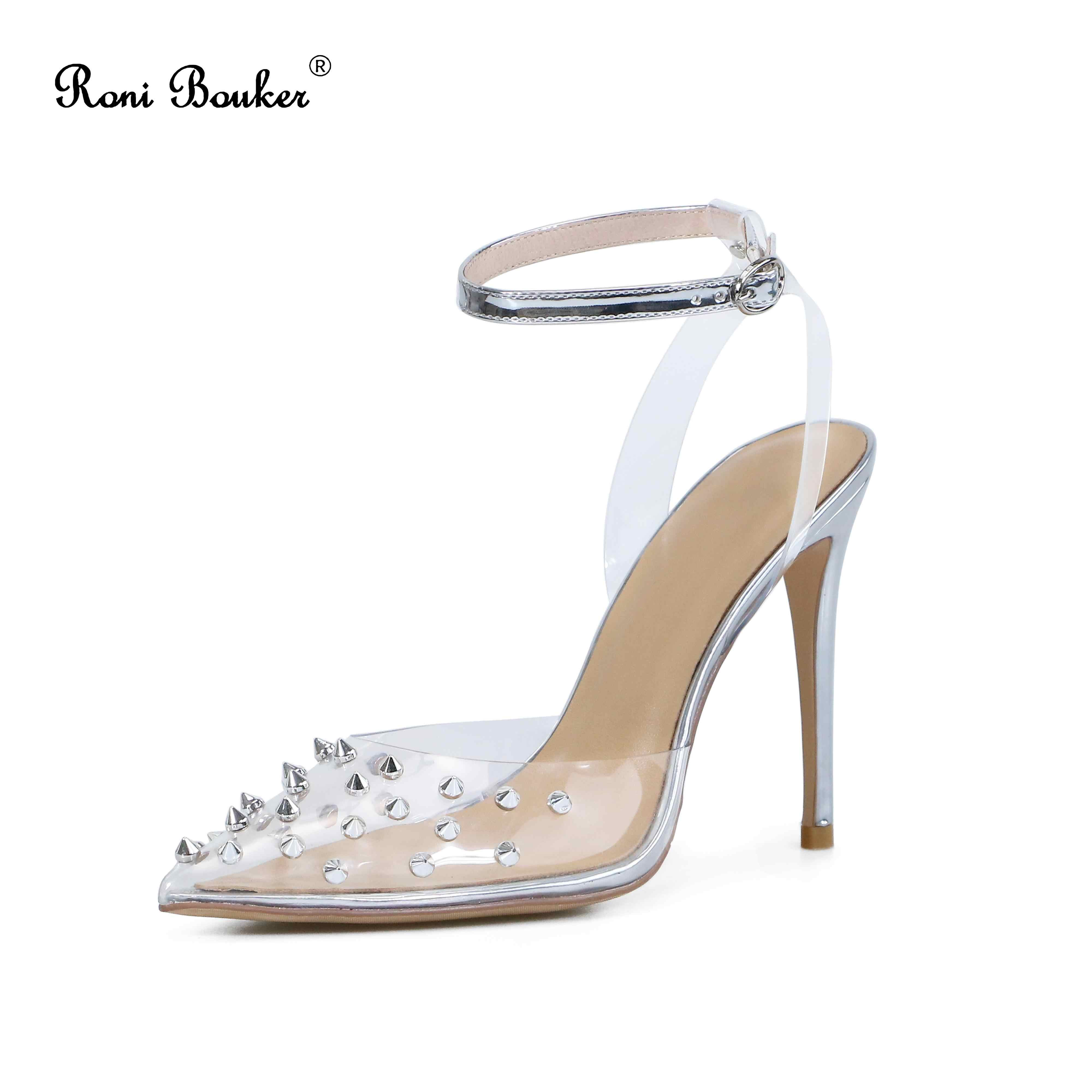 Silver Heels With Spikes