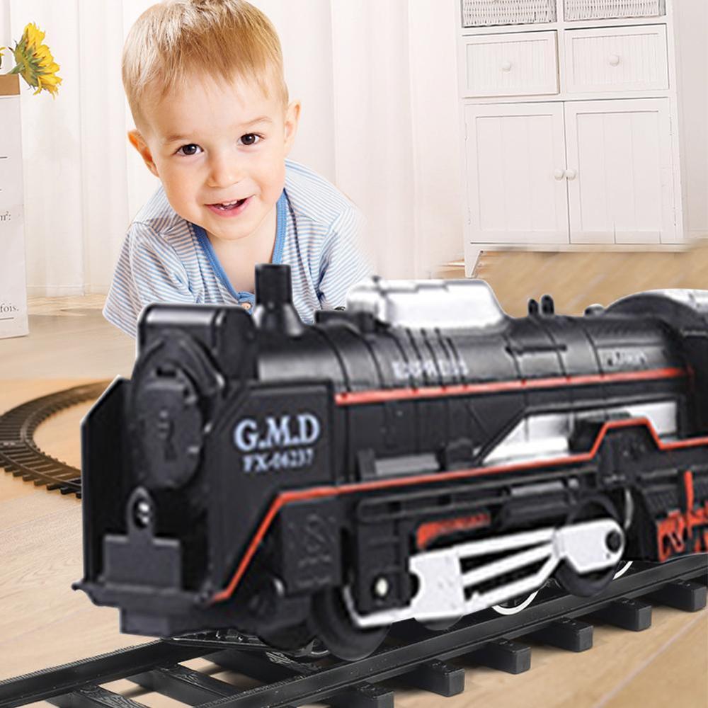 Children's Toy Electric Train Set Railway RC Trains Model Kids Train Toys For Children Trains Rail Remote Control Railway Set