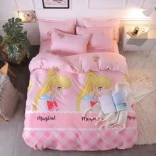 Cartoon Style Kids Bedding Set King Size Duvet Cover Sets ropa de cama Double Bed Linen Queen Size Bed Sheet Set