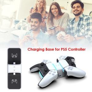 Image 3 - ل PS5 تحكم شاحن مزدوج USB جهاز شحن سريع محطة الوقوف مع USB خارجي ل بلاي ستيشن 5 DualSense اكسسوارات