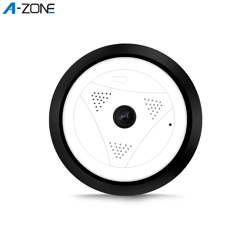 A-ZONE 960P HD 360 Video Camera Wifi Panoramic Onvif P2P Two Ways Audio 1.3MP Wireless IP Fisheye Home CCTV Mini Security Camera