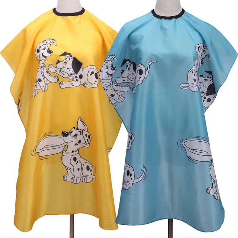 Children Cartoon Waterproof Hairdressing Gown Salon Barber Hair Dyeing Haircutting Wrap Apron Soft Cloth Styling Tools