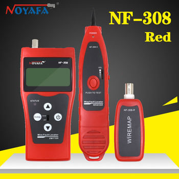 Noyafa NF-308 Network Telephone Cable Tracker Tester RJ45 RJ11 LCD BNC USB Toner Length Wire Fault Detector Line Tracer Finder nf 8601 multi functional network cable tester lcd cable length tester breakpoint tester english version