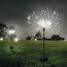 Solar Garden Light Rechargeable Lamps Eight Function Model Grass Fireworks Lamp Outdoor Waterproof 90/150 LED