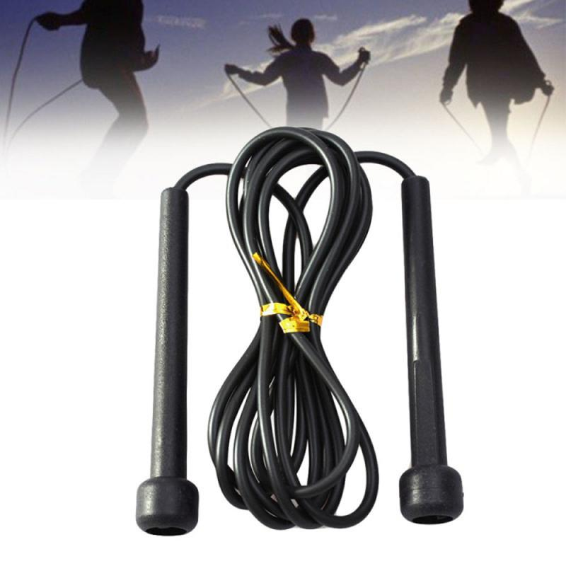 Black 2..6m 9ft Plastic Handle Speed Skipping Jump Rope Adjustable Speed Outdoor Fitness Equipment Boxing Sports Exercises