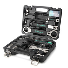 18 In 1 Professional Bicycle Tools for mountain/Road Bike Chain Pedal BB Wrench Hex Key Multi-function Bike Tools Kit Box Set bikehand 18 in 1 multifunctional bicycle tools kit portable bike repair tool box set hex key wrench remover crank puller