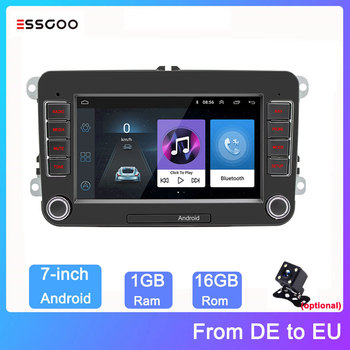 Essgoo Android 7'' Autoradio 2din Stereo Video MP5 Car Radio GPS Navigation Car Multimedia Player For Volkswagen For VW image