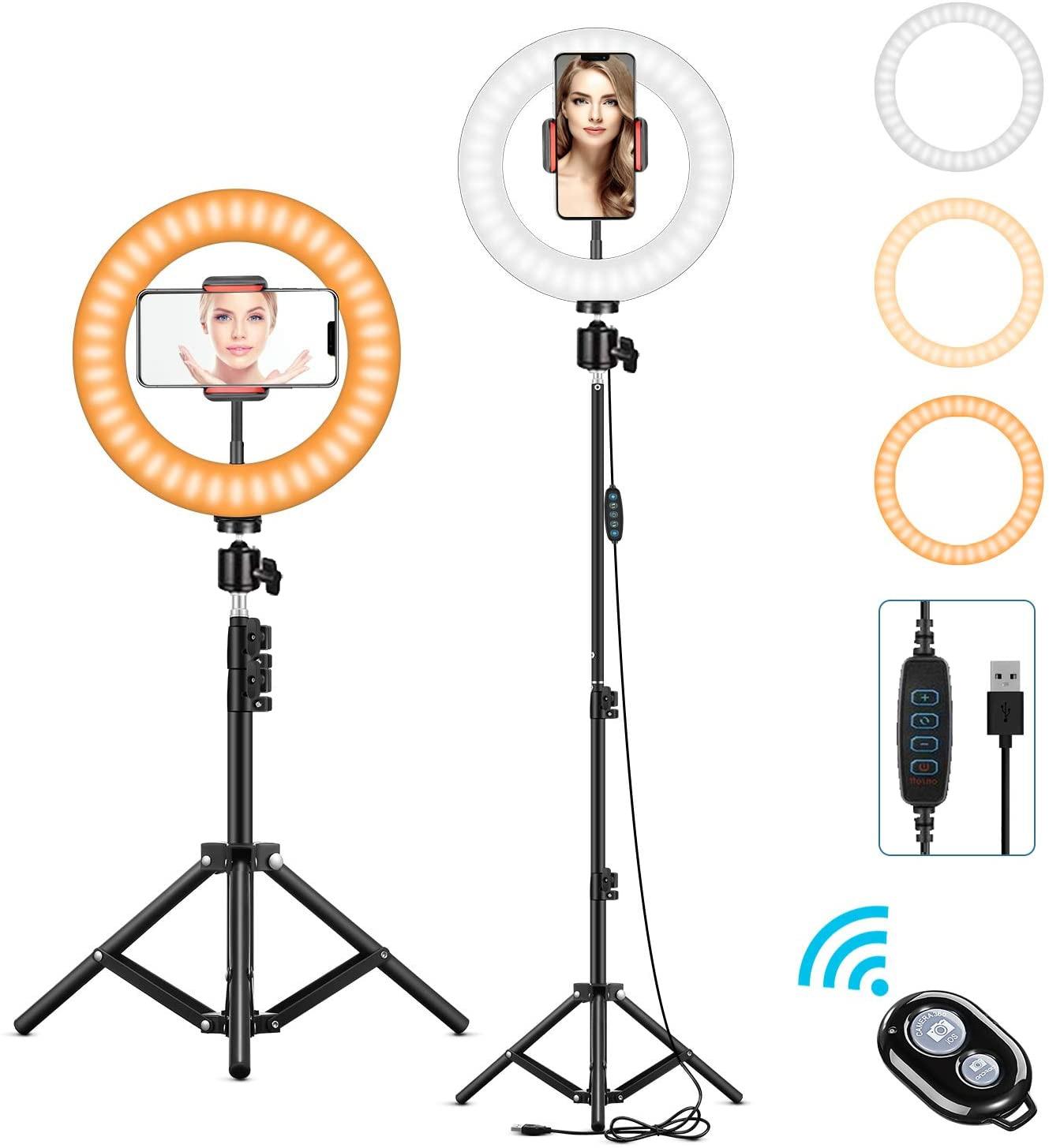Fotografia led iluminação de preenchimento com tripé câmera photo studio círculo led selfie anel luz telefone lâmpada vídeo youtube