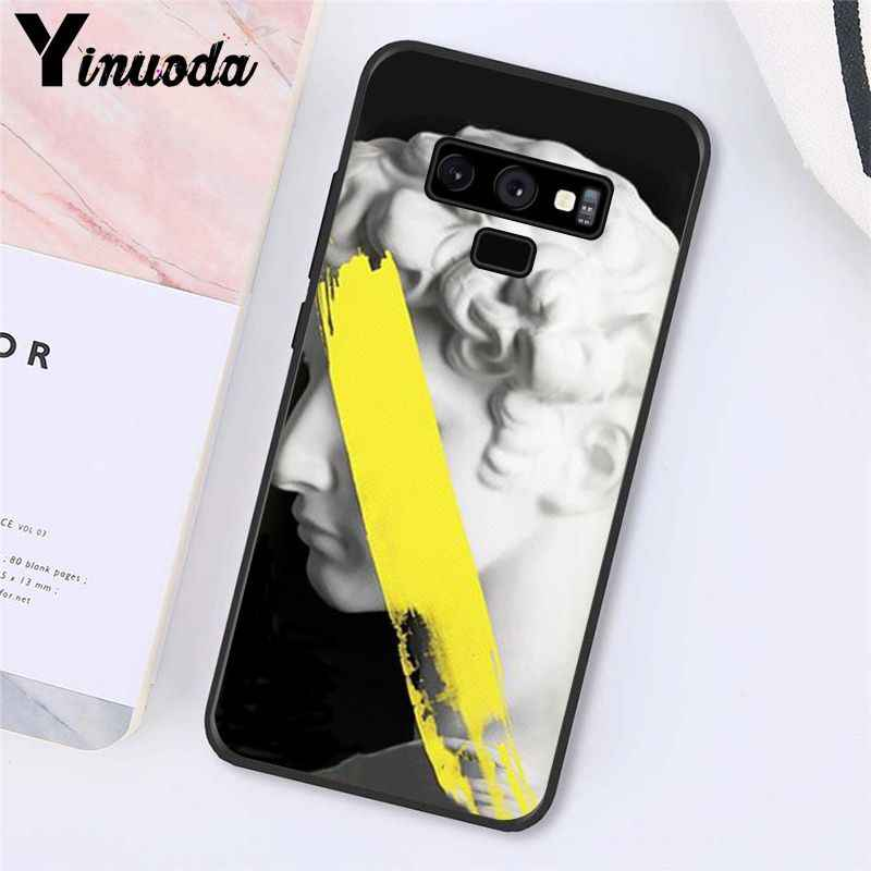 Yinuoda מופשט אמנות קווים דוד אסתטי אמנות ציור מקרה טלפון עבור Samsung Galaxy A50 Note10 פרו 7 8 5 J5 j7 ראש J2prime
