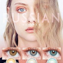 [Fresh Lady] 1 Pair RUSSIAN Series Colored Contact Lenses fo
