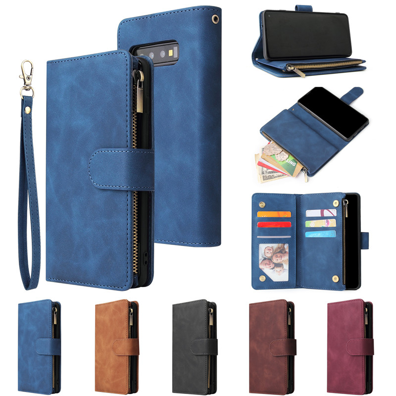 Retro Flip Leather Case for Samsung Galaxy S21 S20 S10 S10e S9 S8 Plus Note 20 10 9 Pro S10/Note20 Lite A21S Cards Wallet Cover