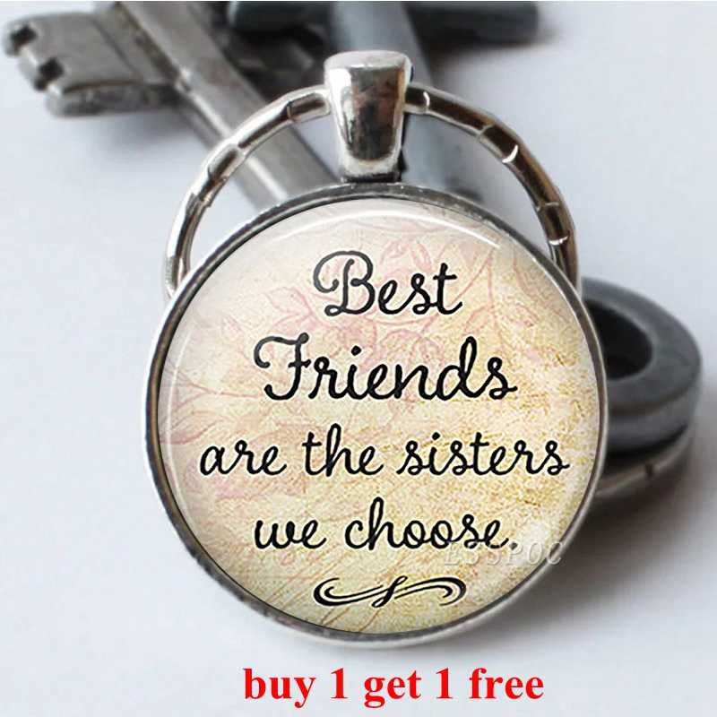 Os bons Amigos São Como Estrelas Amizade Chaveiro Chaveiro Melhor Amigo Pingente Chaveiro Carro Chave Anéis de Presentes para Amigos 2 pçs/lote