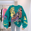 Уличная одежда в стиле Харадзюку 2021, Женская толстовка с капюшоном в стиле аниме, Осенний Модный свитшот в Корейском стиле, пуловеры, топы с ...