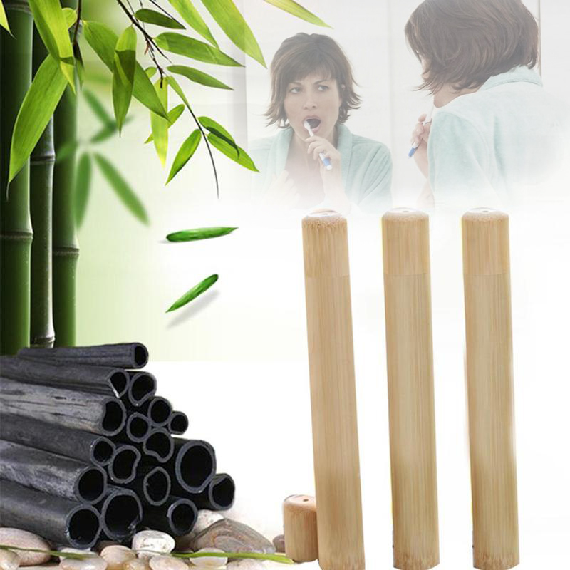 Eco Friendly Bamboo Tube Toothbrush with Portable Travel Storage Case Set Best Price image