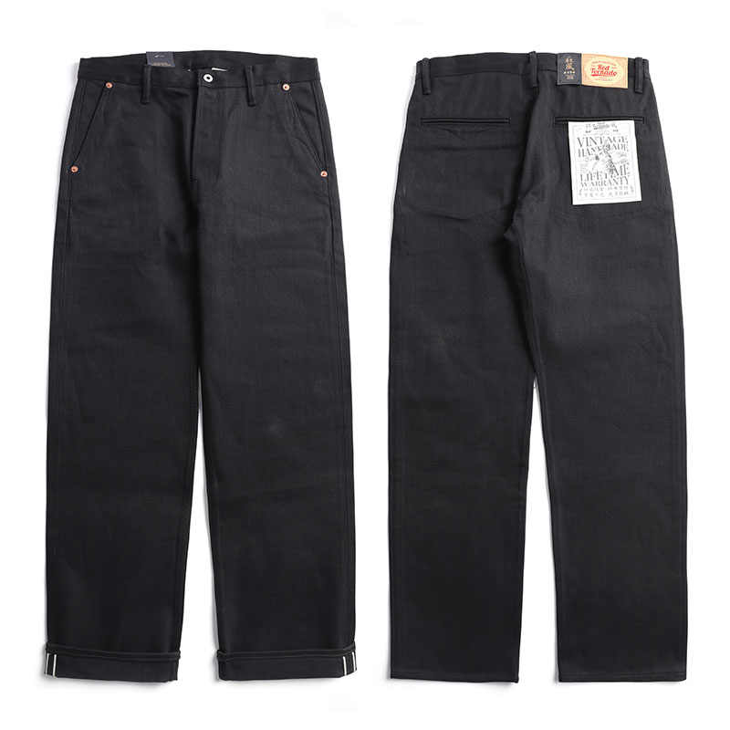 DN-0002 size 28-42 vintage 14 oz raw indigo selvage stylish trousers mens casual chino raw denim jean pants