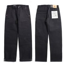 Raw Denim Can-Roll Selvage Chino Jean-Pants Trousers Vintage Casual Mens Stylish Indigo