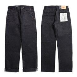 DN-0002 size 28-42 vintage 14 oz raw indigo selvage stylish trousers mens casual chino raw denim jean pants