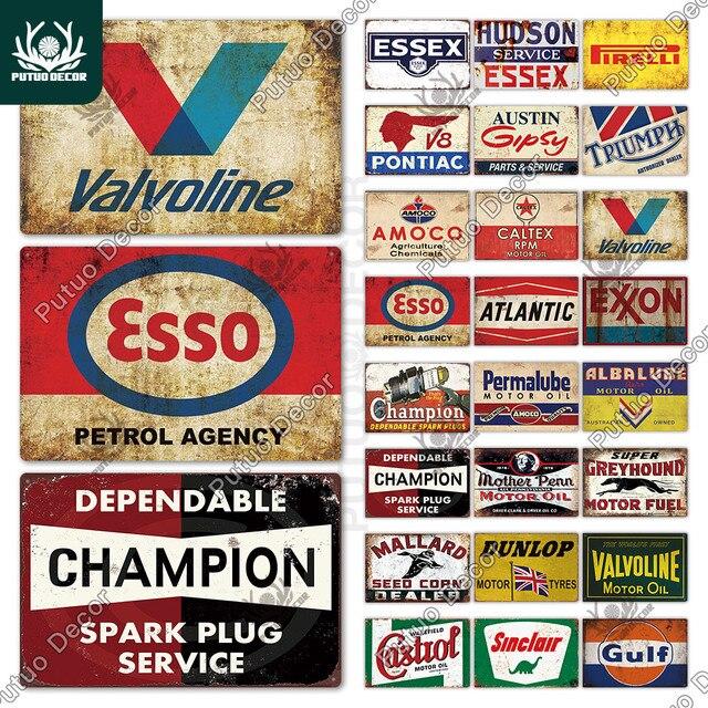 Oil Brand Plates