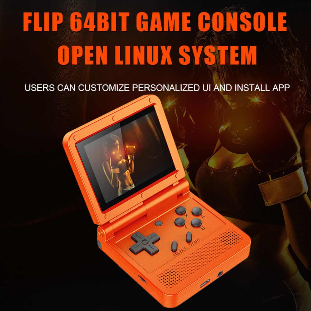 9 خصم! Powkiddy V90 ريترو لعبة وحدة التحكم الوجه لينكس نظام يده وحدة التحكم مع 16g/2000 ألعاب لعبة فيديو وحدة التحكم ل PS1 N