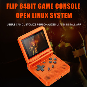 Powkiddy V90 Retro Game Console Flip Linux System Handheld Console with16G /2000 Games Video Game Console For PS1 N