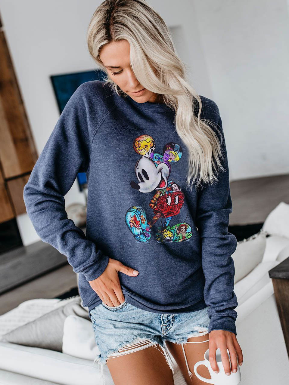 Mickey Women Mouse Hoodie Cartoon Print Pullovers Clothes Sweatshirt Streetwear Mouse Hodies Micky Busos Para Mujer Kawaii