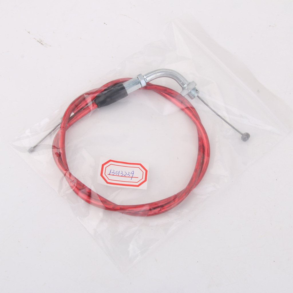 RED PIT DIRT BIKE THROTTLE ACCELERATOR CABLE 110cc 125cc 140cc PITBIKE