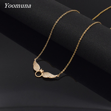 Fashion Women Necklaces Jewelry Angel Pendant Necklace Jewelries Chain Trinket Flawless Women Necklaces Exquisite Choker fashion angel wings necklace for women animal pendant gold color chain statement choker necklaces guardian angel gift card