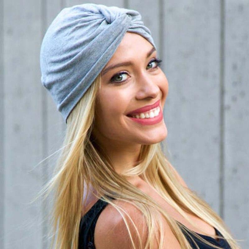 2019 Fashion Muslim Hijab Hats Solid Cotton Wrap Head Scarf Pleated Indian Inner Hijabs Cap Headwear Turban For Women Bonnet
