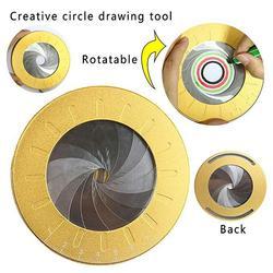 Regulowana precyzyjna matematyka linijka miernicza stal nierdzewna okrągłe pieczenie inspirujące koło narzędzie do rysowania Party Rotary Stationery