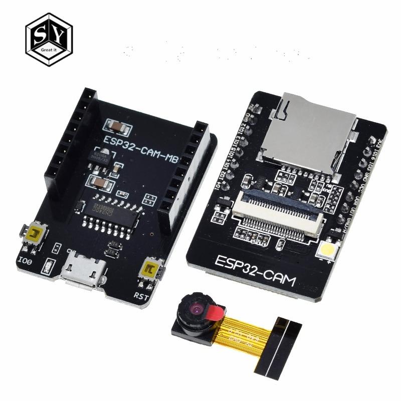 1 шт. ESP32-CAM-MB WI-FI ESP32 CAM Bluetooth макетная плата с OV2640 Камера для микро-флеш-накопителя USB Серийный Порты и разъёмы CH340G 4,75 V-5,25 V