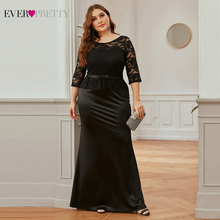 Evening-Dress Weddings Black Lace Ever Pretty Brides Elegant for Ep00405bk/Elegant/Mermaid/O-neck
