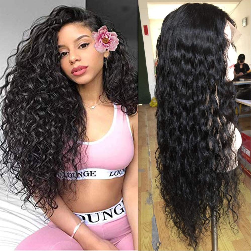Water Wave 13x4 Lace Front Human Hair Wigs Brazilian Curly Hair Wig Remy Wig 150% Natural Hairline Lace Frontal Wigs Pre-plucked