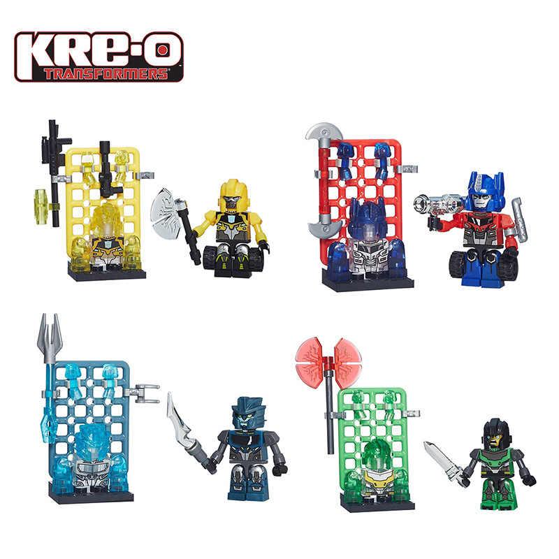 Hasbro เด็ก ku Lei อาคารบล็อกของเล่น Transformers Collection ตุ๊กตาของเล่นตุ๊กตาเดสก์ท็อปเครื่องประดับ Optimus Prime
