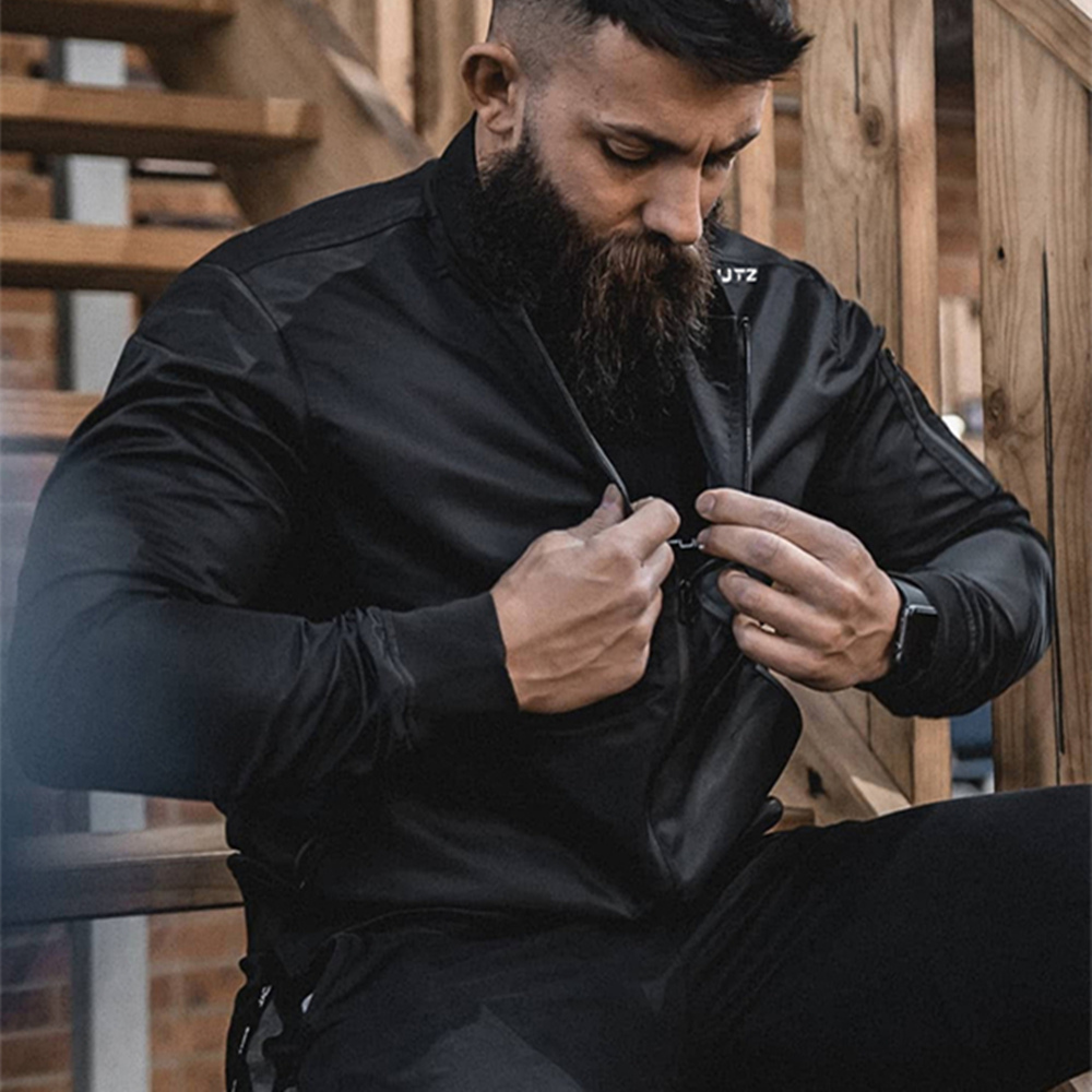 Men Fitness casual Fashion  jacket