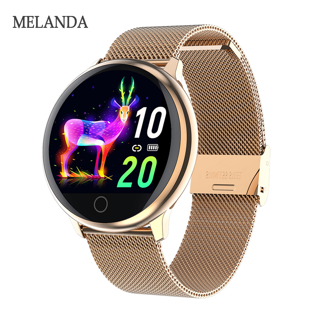 MELANDA New Women Smartwatch Waterproof Wearable Device Heart Rate Monitor Sports Smart Watch For Android IOS Long Standby(China)