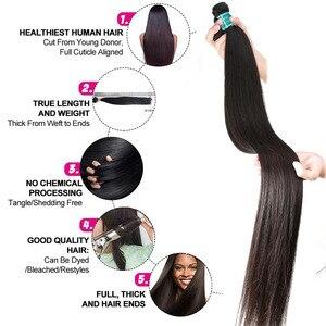 Image 3 - Ali Grace pasma prostych włosów z zamknięciem 4x4 zamknięcie z wiązkami brazylijski 28 cali wiązki ludzkich włosów z HD zamknięcie koronki