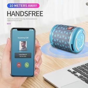 Image 3 - Nieuwe Draagbare Bluetooth Speaker & Telefoon Houder Mini Subwoofer Stof Draadloze Outdoor Parlante 6 Kleuren Ondersteuning Tf kaart USD Schijf