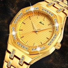 Yeni MISSFOX 18K altın kadın saatler en lüks marka su geçirmez kuvars bayanlar bilek saatler Lab elmas moda kadın saat saat
