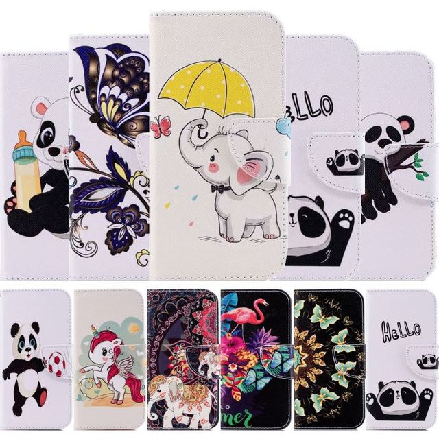 Wallet Card Pocket Case For Huawei P30 P20 Honor 9X Mate 30 Lite 20 Pro P Smart Plus Y7 2019 Y6 2018 Cute Panda Stand Cover D07G