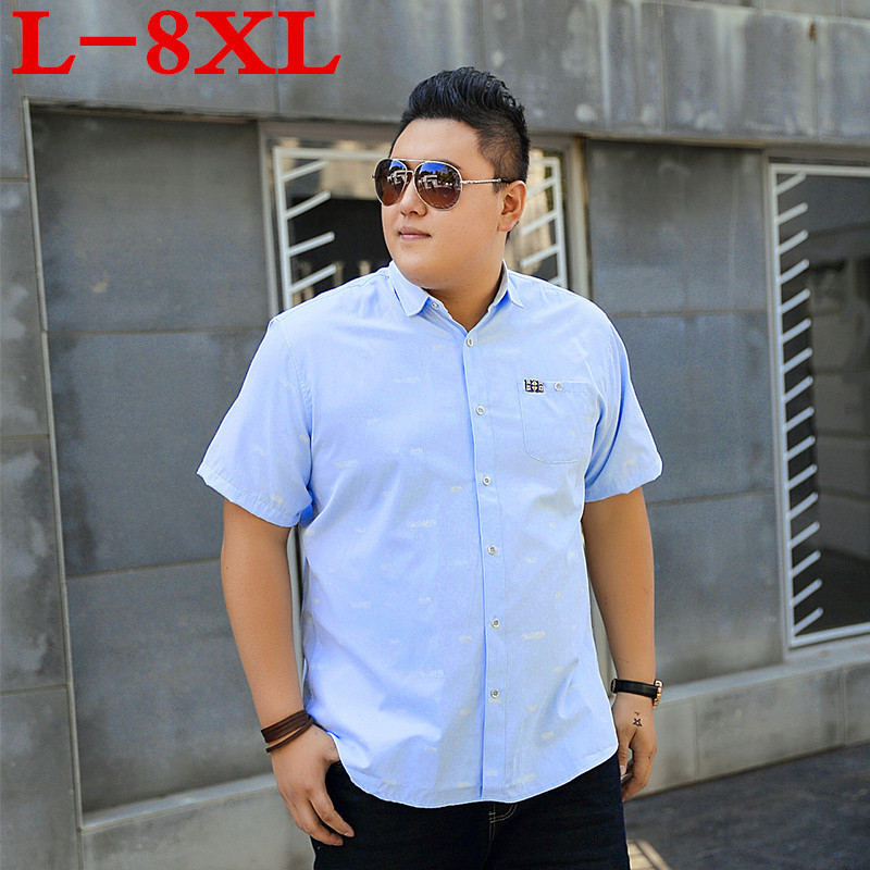 New Plus Size 9XL 8XL 7XL  Men Shirt Fashionable Casual Male Brand Clothing Printed Loose Camisa Social Masculina Big Large