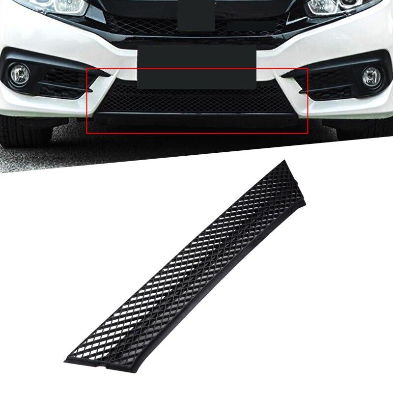 Krom ABS 1 adet dış araba ön ızgara tampon ızgarası örgü Net ayar kapağı çıkartmalar kalmak Honda Civic 2016 2017 için 2018 10th