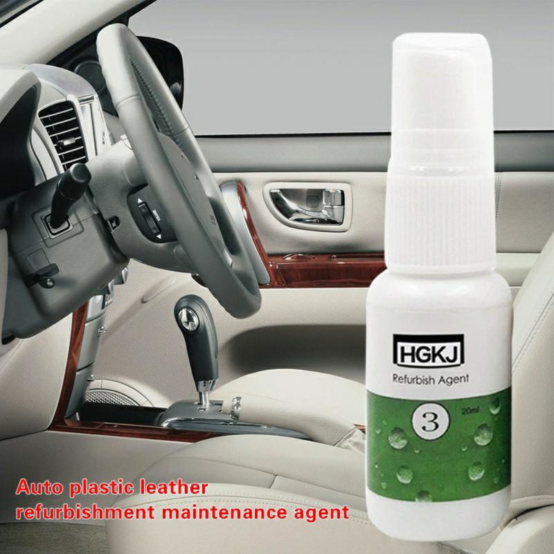 Car Plastic Parts Retreading Agent Leather Care Interior Cleaner Car Scratch Repair Liquid Polishing Spray Maintenance Coating