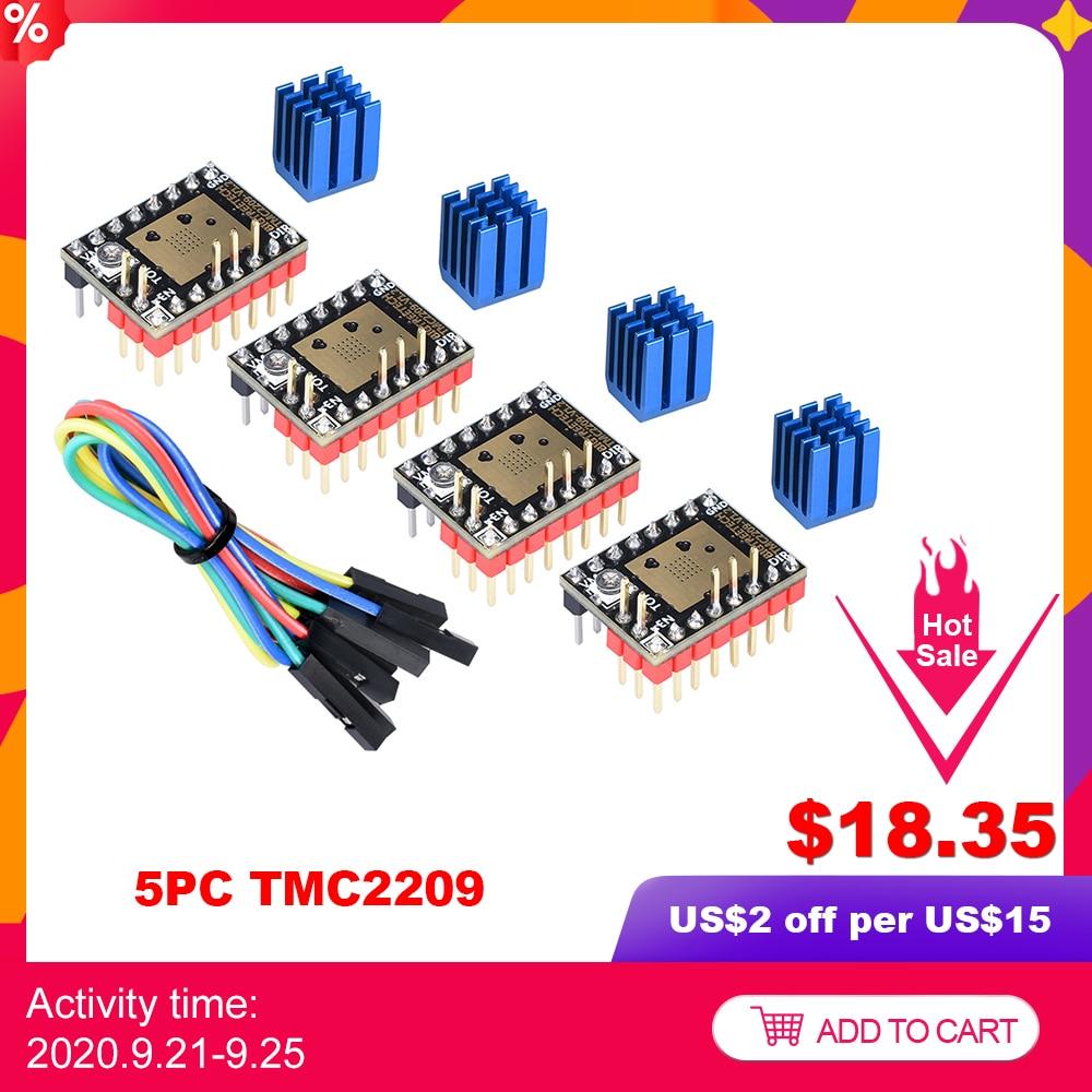 BIGTREETECH TMC2209 V1.2 스테퍼 모터 드라이버 TMC2208 UART 2.8A 3D 프린터 부품 TMC2130 For SKR V1.3 V1. 4 SKR 미니 E3 보드