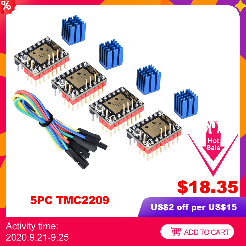 BIGTREETECH TMC2209 V1 2 Stepper Motor Driver TMC2208 UART 2 8A 3D Printer Parts TMC2130 For SKR V1 3 V1  4 SKR mini E3 Board